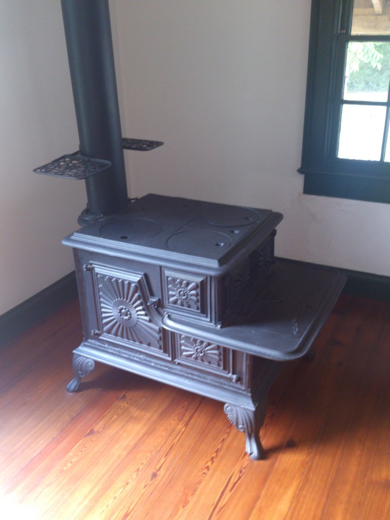 Wood burning stove in homestead